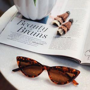 Alice Brown Tortoise Cat Eye Sunglasses